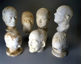 Phrenological plaster cast heads, 1823-1950.