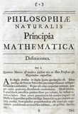 Inside title page to Newton's 'Principia Mathematica', 1687.