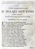 Page one of Edmond Halley's Ode to Newton, 1687.