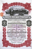 Share certificate of the Brazil Railway Company, 1 April 1912.