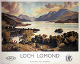 'Loch Lomond', LNER and LMS poster, c 1940s.