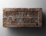 Hand-made brick with 'frog' from Lindsey, Lincolnshire, early 19th century.