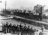 Celebrating the centenary of the opening of the Stockton & Darlington Railway line, 1925.