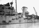 HMS Ajax, 25 July 1940. 'One of the cruiser