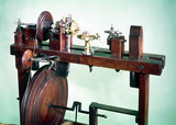 """Wood turner's foot lathe, 17th or early 18th century."""