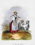 'For Milk and Cheese', c 1845.