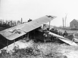 German plane brought down over enemy lines,