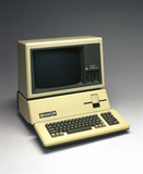 Apple III personal computer and monitor, 1981.