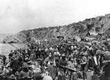 Troops landing on Suvla Bay, Gallipoli peni