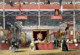 Spanish and Portugese stand at the Great Exhibition, Crystal Palace, 1851.