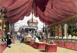 Turkish No 2 stand at the Great Exhibition, Crystal Palace, London, 1851.