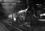 'Hyperion' steam locomotive with the 'Flying Scotsman' service, c 1952.
