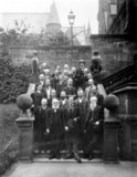 Sir William Henry Perkin and group, British Asociation meeting, York, 1906.