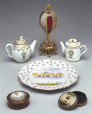 A selection of 'ballooniana' objects, late 18th century.