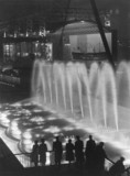 Ten floodlit fountains with all the colours
