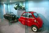 Bubble cars and Vespa scooter, Science Museum, June 2000.