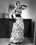 Model wearing 'Sea Shell Dres', 20 June 1950.