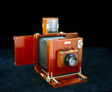 Gandolfi bellows camera, c 1935.