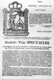 Trade card for spectacle manufacturer John
