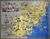 'A Map of Essex, Suffolk and Hertfordshire', BR poster, after 1948.