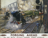 'Forging Ahead', BR poster, 1950s.