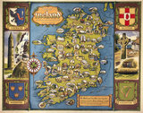 Map of Ireland, BR poster, c 1950s.