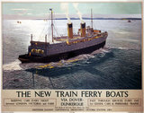 'The New Train Ferry Boats', SR poster, 1936.