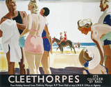 'Cleethorpes: It's Quicker by Rail', LNER poster, 1923-1947.