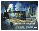 'Service to Industry', BR poster, 1948-1964.