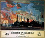 'British Industries - Steel', LMS poster, 1924.
