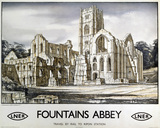 'Fountains Abbey', LNER poster, 1932.