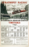 'Steam Trains in the Highlands', poster, 1987.