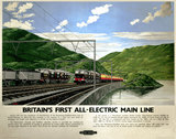 'Britain's First All-Electric Main Line', BR poster, 1955.
