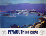 'Plymouth for Holidays', GWR/SR poster, 1936.