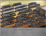 'British Railways Locomotives', BR poster, c 1950s.