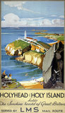 'Holyhead (Holy Island)', LMS poster, 1923-45.
