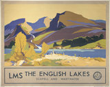 'The English Lakes', LMS poster, c 1930s.