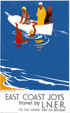 'East Coast Joys No 4 - Sea Bathing', LNER poster, 1931.