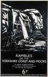 'Rambles on the Yorkshire Coast and Moors', LNER poster, 1923-1947.