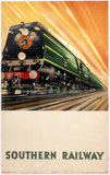 'Bulleid Pacific Locomotive', SR poster, 1946.