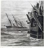 The sinking of HMS 'Vanguard', 1875.
