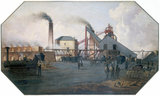 'North Eastern coalfield: colliery pit-head and coking ovens', c 1845.