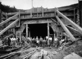 Reconstructing Gill's Corner tunnel, 1892.