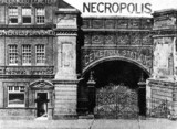 Entrance to the London Necropolis Company's Cemetery Station, c 1890s.