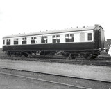 British Railways third clas vestibule carriage No M27499, 17 June 1948.