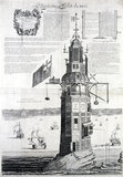 The first Eddystone lighthouse, Devon, 1703.