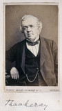 William Makepeace Thackeray, English novelist, c 1850s.