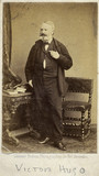 Victor Marie Hugo, French poet, novelist and dramatist, c 1860s.