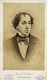 Benjamin Disraeli, English statesman and novelist, c 1860s.