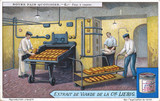 """'The baker's oven', Liebig trade card, early 20th century."""